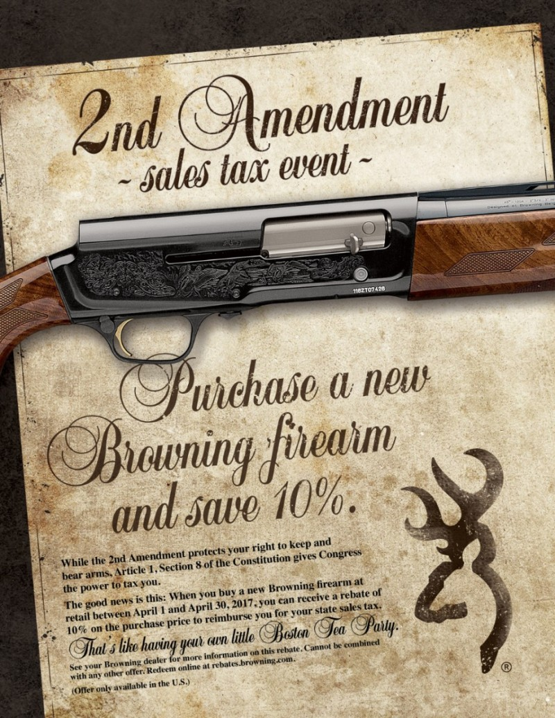 Browning Promotion: 2nd Amendment Sales Tax Event
