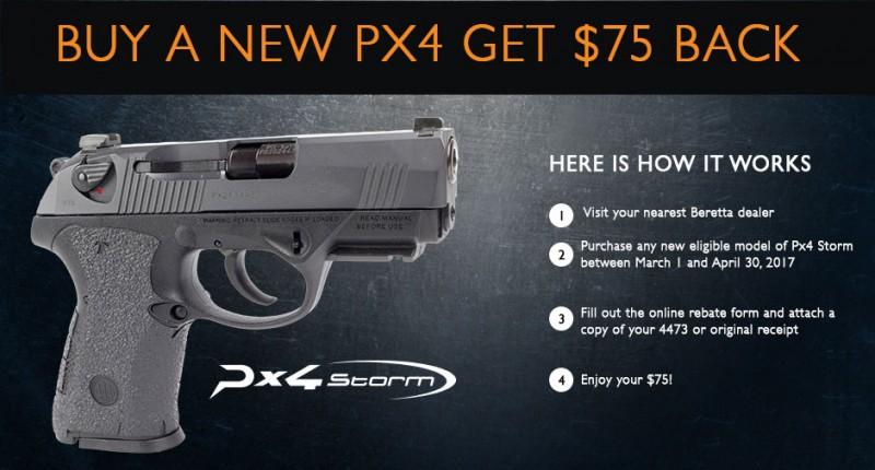 Beretta Rebate: PX4 Storm Rebate