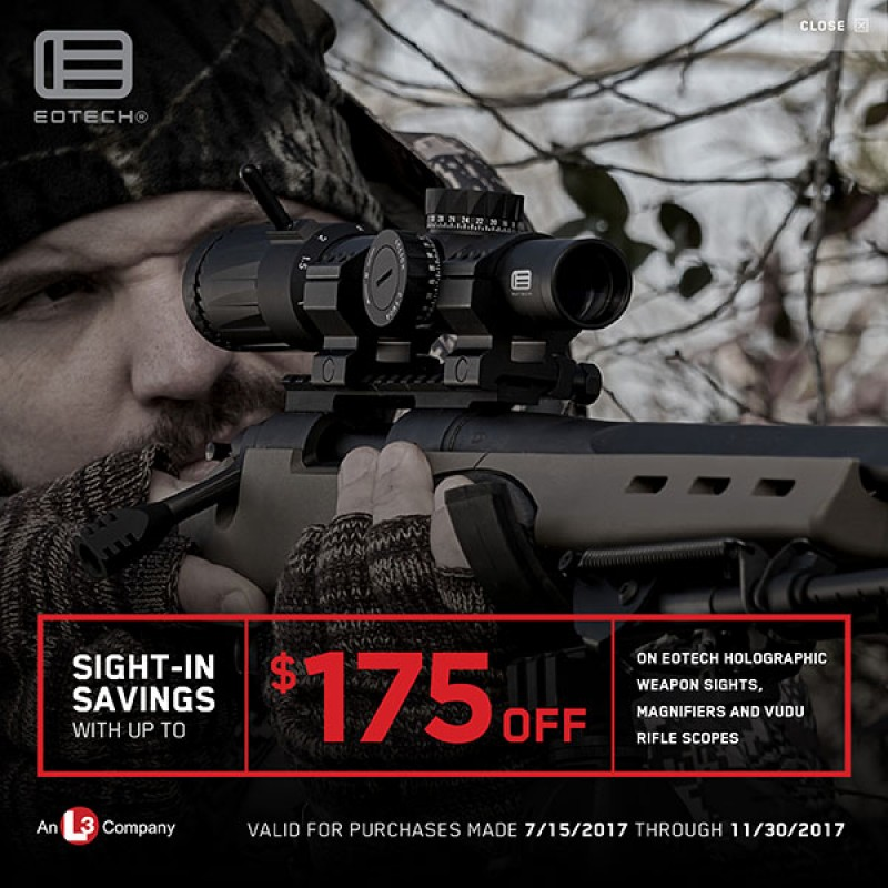 Up to $175 Rebate on Rifle Scopes from EOTECH