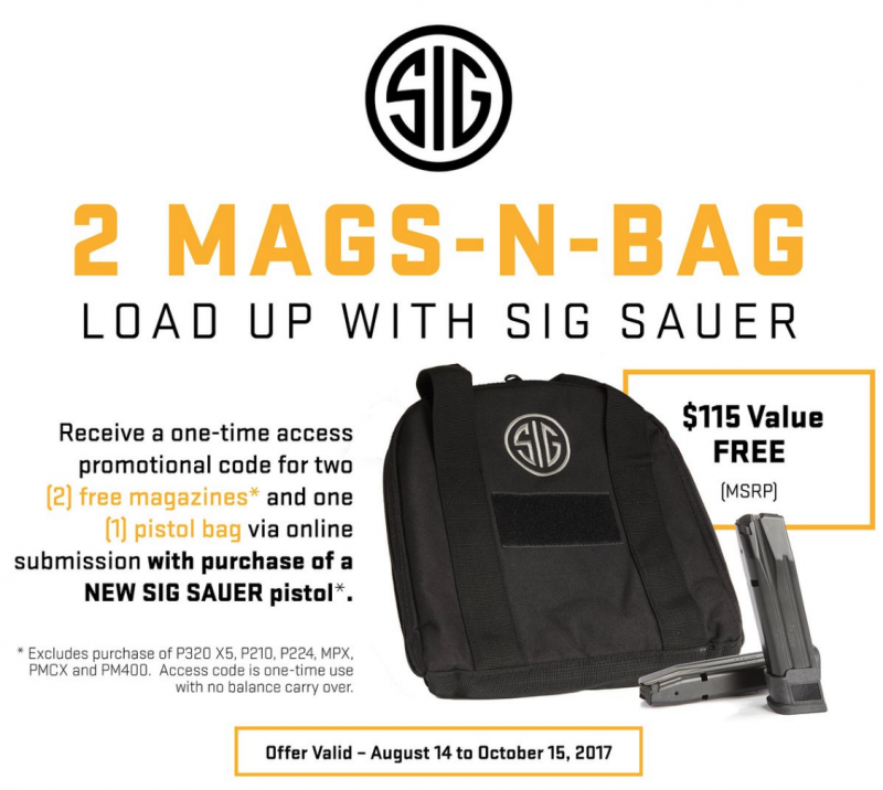 Two Mags and a Bag with a New Sig Sauer