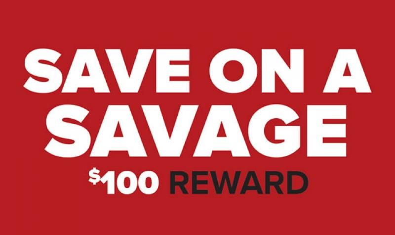 Savage Rebate: Save on a Savage EXPIRES DEC 31, 2017
