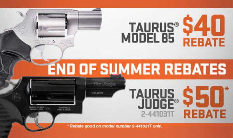 Taurus Rebate: End of Summer Rebates EXPIRES OCT 31, 2017
