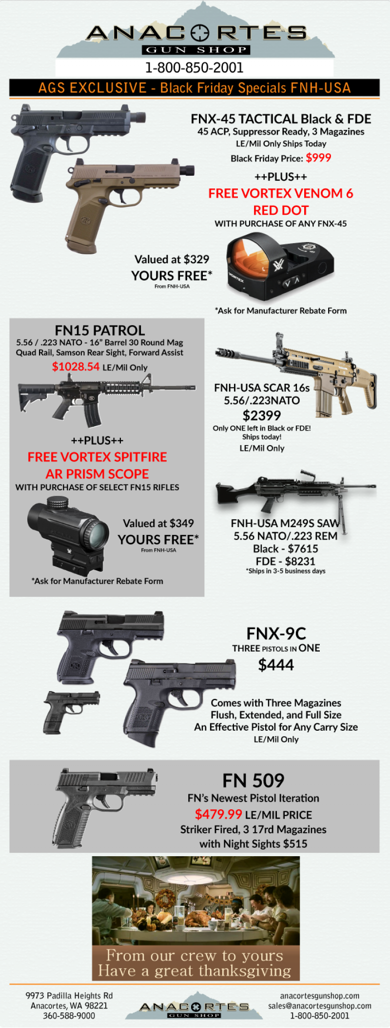 It's FN Black Friday!