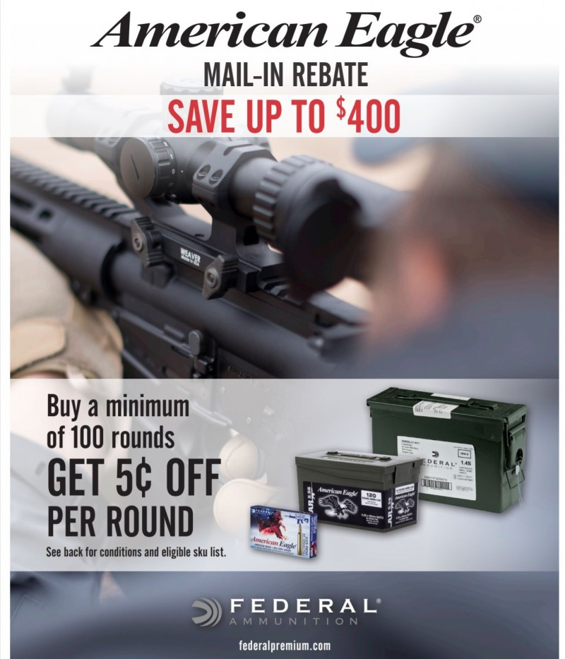 Save 5 Cents per Round on American Eagle Ammunition in 223/5.56 NATO