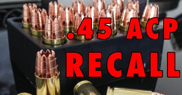G2 Research Inc. R.I.P. .45ACP Ammunition Recall