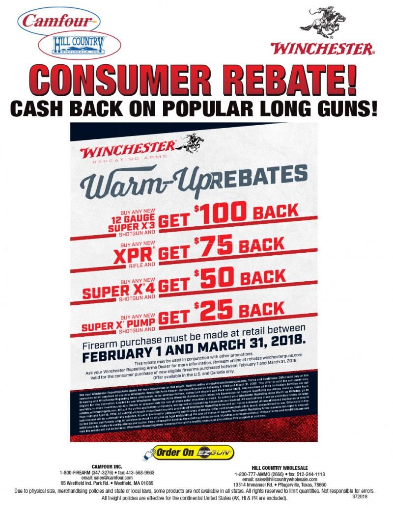 Winchester Rebate - Cash Back on Long Guns!