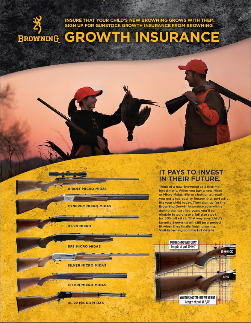 Browning Gunstock Growth Insurance Program 2016