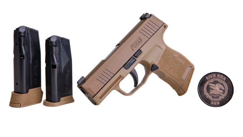 New SIG NRA P365 in Coyote Tan