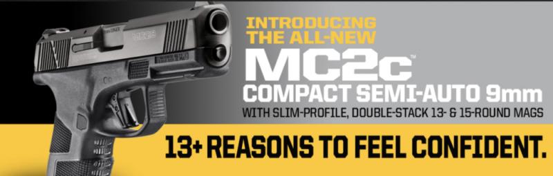 Mossberg Expands Handgun Line with MC2c Compact 9mm Pistol