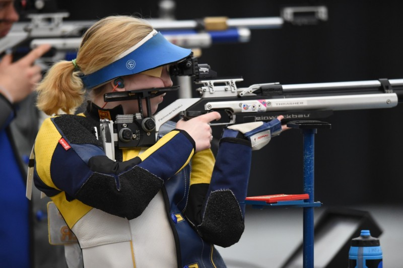 College frosh wins spot on USA Olympic shooting team five years after firing a rifle for first time