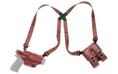 Galco Miami Classic Shoulder Holster System, Tan, Ambidextrous, For Glock 17/22/31 - MC224