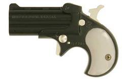 "Cobra Enterprises C22 Derringer .22 Long Rifle 2.4"" Barrels 2 Rounds Pearl Grips Blued Finish C22BP"