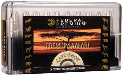 Federal .470 Nitro Express Cape-Shok 500 Grain Swift A-Frame Bullet 20rd box 2150 fps