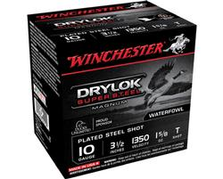 "Winchester Super-X DryLok, 10 Gauge, 3-1/2"", 1-5/8 oz., Steel Magnum Waterfowl Shot, 25 Rounds"