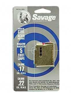 Savage Arms .22 Magnum/.17 HMR Magazines Per Each - Stainless Steel