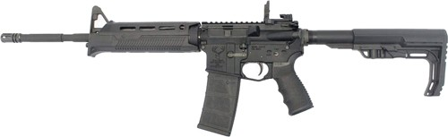 """Stag Arms STAG-15 Minimalist Left Hand Semi Auto Rifle 5.56 NATO 16"""" Barrel 30 Rounds MFT Furniture with M-LOK Compatible Handguard and Battlelink Stock Black"""