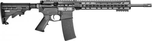 """CORE15 KeyMod Scout AR-15 Semi Auto Rifle 300 AAC 16"""" Barrel 30 Rounds 12.5"""" KeyMod Handguard Collapsible Stock Black"""