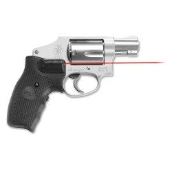Crimson Trace Smith and Wesson J-Frame Revolver Round Butt Lasergrip Red Laser Sight LG-350