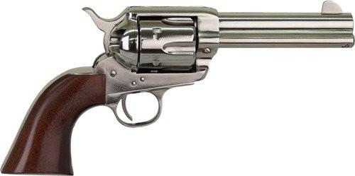 "Cimarron Pistolero .22 LR Single Action Rimfire Revolver 6 Rounds 4.75"" Barrel Pre-War Frame Walnut Grips Nickel Finish"