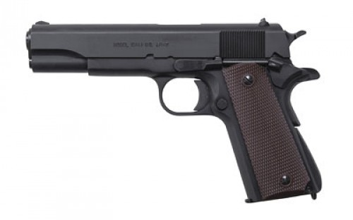 "Auto-Ordnance Thompson 1911 A1 Semi Auto Pistol 9mm Luger 5"" Barrel 9 Rounds Checkered Plastic Grips Matte Black"