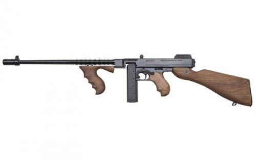 "Thompson T59L20 1927A-1 T5 Lightweight Semi-Automatic 9mm Luger 16.5"" 20+1 Walnut Stk Black"