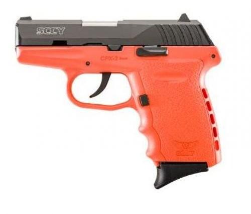 SCCY CPX-2 Black / Orange 9mm 3.1-inch 10Rd