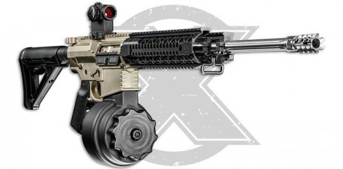 X Products SR-25 .308 Win 50 Round Drum Aluminum Black