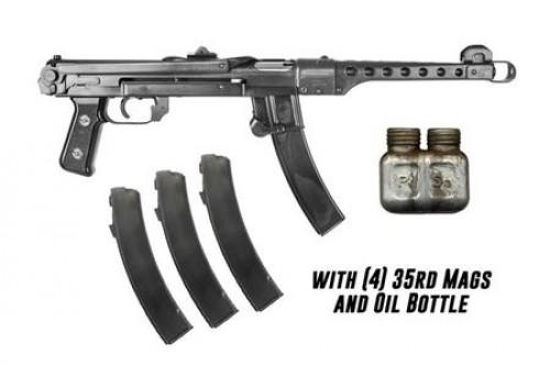 """IMG Polish PPS43-C Semi Auto Pistol 7.62x25mm Tokarev 9.8"""" Barrel 35 Rounds Black Finish"""
