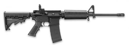 DPMS LCAR RIA 223 REM 16IN BBL F MARK FRNT MBUS REAR SGT BLACK MIL SPEC M4 STK  A3 UPR 30RD MAG A2