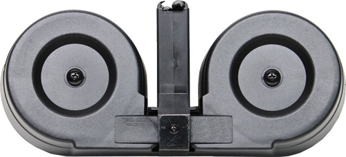 IVER JOHNSON MAGAZINE AR-15 5.56NATO/.223 100RD DRUM BLK/CLEAR POLY