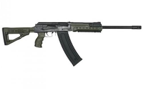 "Kalashnikov USA KS-12 Semi Auto Shotgun 12 Gauge 18.25"" Barrel 3"" Chamber 10 Rounds Collapsible Stock OD Green Polymer Furniture Matte Black"