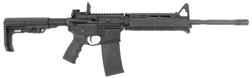 """Stag Arms STAG-15 Minimalist Semi Auto Rifle 5.56 NATO 16"""" Barrel 30 Rounds MFT Furniture with M-LOK Compatible Handguard and Battlelink Stock Black"""