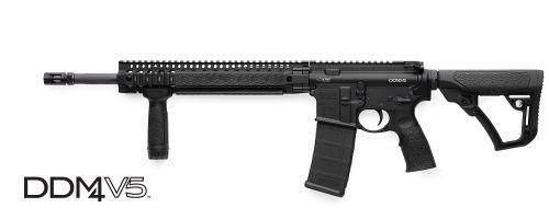 Daniel Defense DDM4 V5 Black 5.56 NATO SLICK TOP MID NS