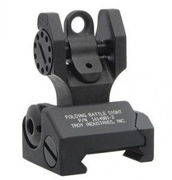 Troy Folding Rear Battle Sight Black
