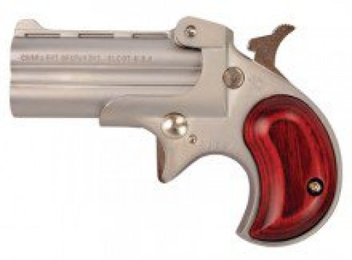 "Cobra Enterprises C22M Derringer .22 Magnum 2.4"" Barrels 2 Rounds Wood Grips Satin Nickel Finish"