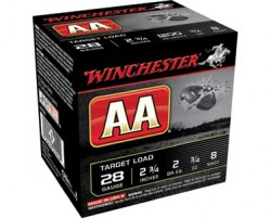 "Winchester, AA Shotshells, 28 Gauge, 2 3/4"" Shell, 3/4 oz., 25 Rounds"