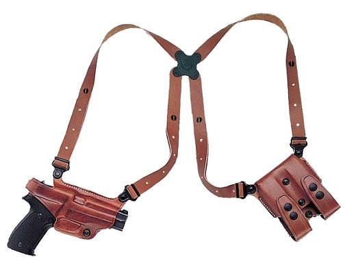 Galco Miami Classic Shoulder Holster System, Tan, Right Hand - For Glock 21 - MC228