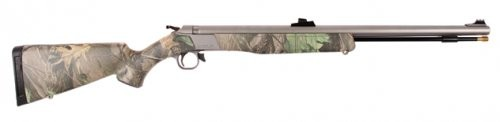 CVA Wolf Stainless Steel/Realtree Xtra Green Muzzleloader with Fiber-Optic Sights