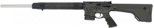 """Stag Arms STAG-15 Varminter Left Hand Semi Auto Rifle 5.56 NATO 24"""" Stainless Steel Heavy Barrel 10 Rounds Hogue Free Float Handguard Magpul Fixed Rifle Stock Black"""