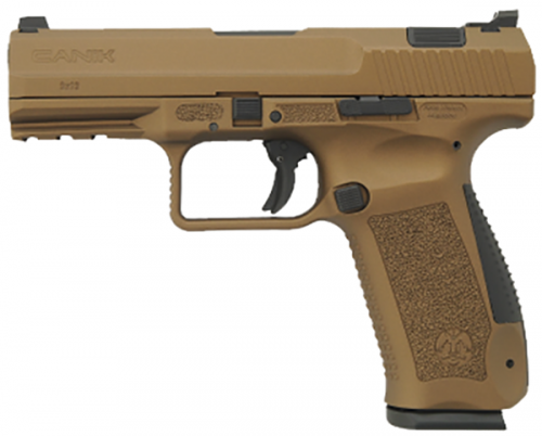 CENTURY ARMS CANIK TP9DA BURNT BRONZE 9MM WARREN SIGHTS W/2MEC-GAR 18RD. MAGS & FULL ACC. KIT