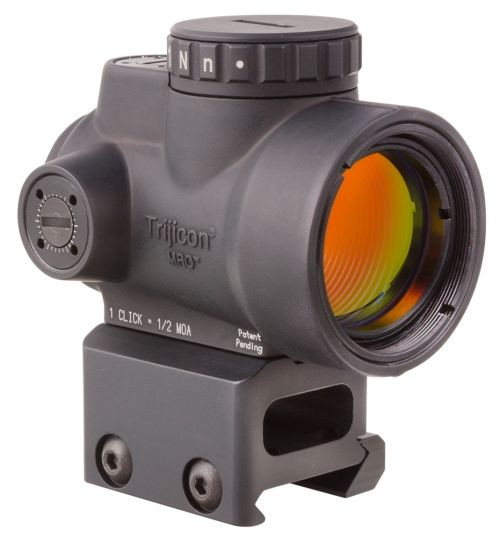 Trijicon MRO 1x25mm Adjustable Red Dot Sight, 2MOA Dot Reticle, Black w/MRO Full Co-Witness Mount, MRO-C-2200005