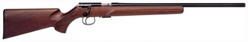 """Anschutz 1517D Bolt Action Rifle .17 HMR 23"""" Heavy Barrel 4 Rounds Walnut Beavertail Stock Blued 2214005"""