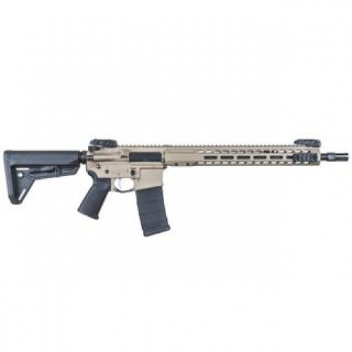 "Barrett REC7 DI AR-15 Semi Auto Rifle .300 AAC Blackout 16"" Barrel 30 Round Magazine Gas Impingement System Enhanced M-LOK Hand Guard 6-Position Stock Cerakote FDE Finish"