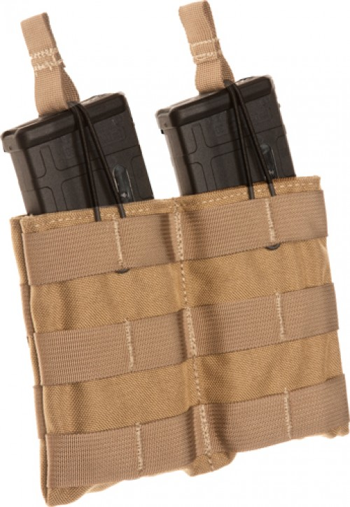 Tac Shield Double Speed Load AR-15 Rifle Magazine Pouch Belt Mounted Coyote
