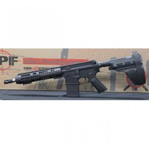 "Alex Pro Firearms Pistol 300 AAC Blackout 10.5"" Barrel Sig Brace Carbine Gas Black Semi-Automatic Pistol"