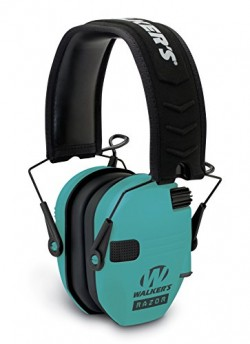 Walkers Game Ears Razor Slim Electronic Ear Muff Light Teal GWP-RSEM-LTL