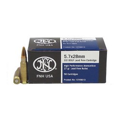 FNH AMMO 5.7X28MM SS195 LEAD FREE 50/40 2000/CAS
