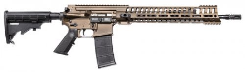 "Patriot Ordnance Factory P-415 Hybrid, Semi-Automatic, 556NATO, 16.5"" Barrel, Burnt Bronze"