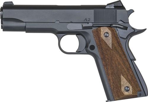 "Dan Wesson 1911 A2 Commander Semi Auto Pistol .45 ACP 4.25"" Barrel 7 Rounds Wood Grips Matte Blued"