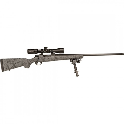 "Howa Hs Precsion Stock Rifle 300 Win Mag 24"" Barrel Gray / Black Stock Scope And Bipod Combo"